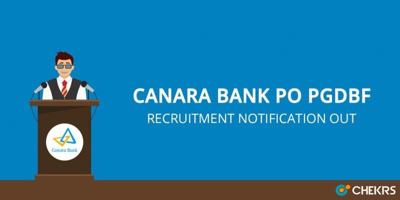 Canara Bank PO Recruitment 2021