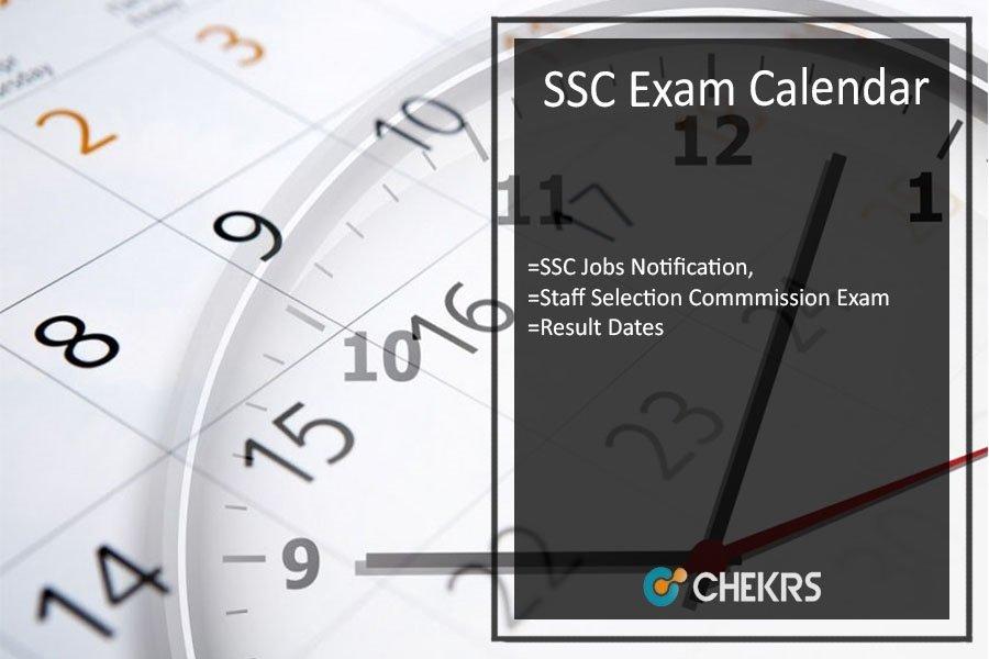 SSC Exam Calendar 2021