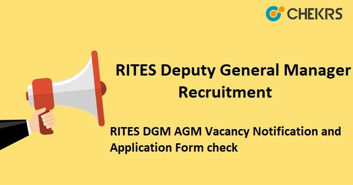 RITES Deputy General Manager Recruitment
