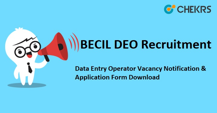 Data Entry Operator Vacancy Apply Online