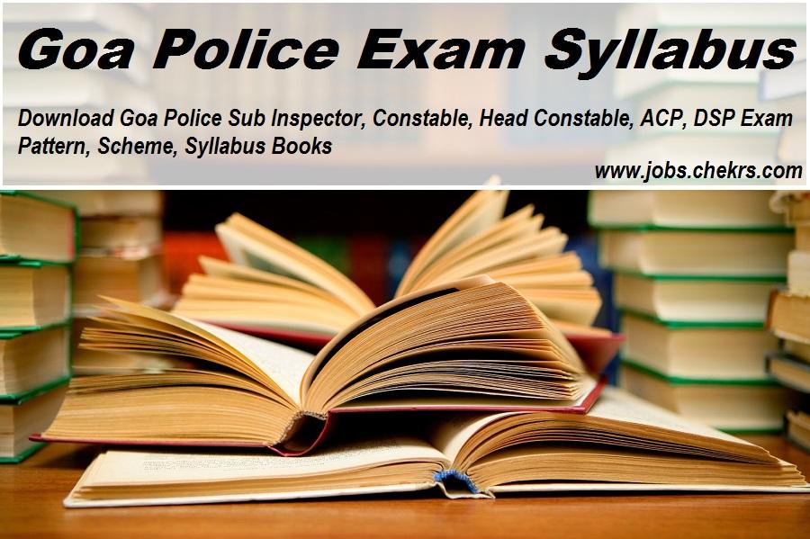 Goa Police Exam Syllabus