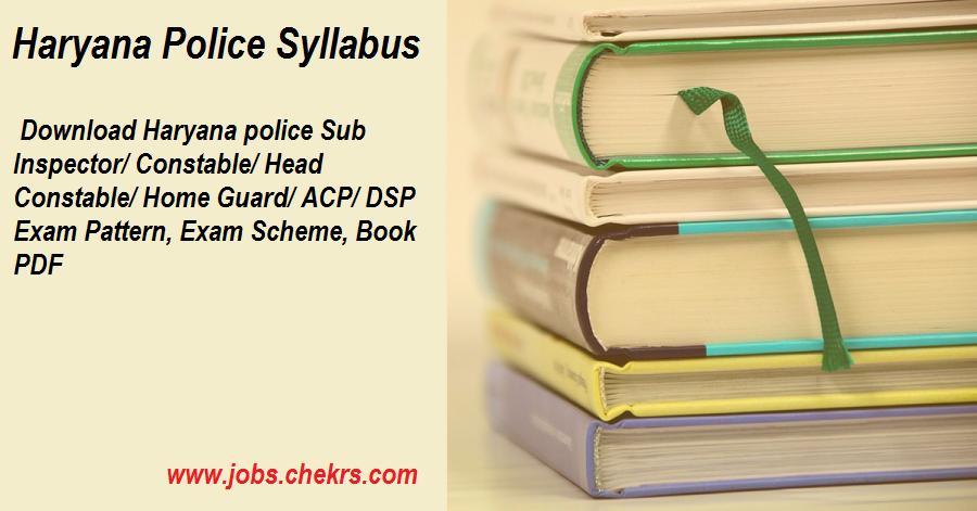 Haryana Police Exam Syllabus