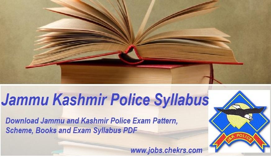 Jammu Kashmir Police Exam Syllabus