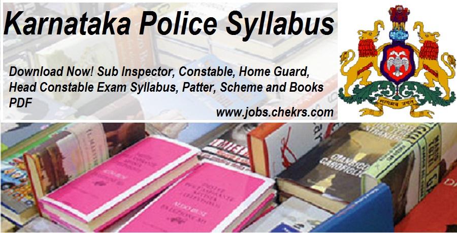 Karnataka Police Exam Syllabus