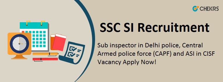 SSC CPO SI Vacancy