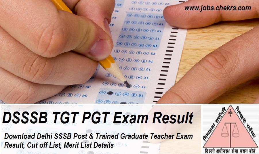 DSSSB TGT PGT Result 2021