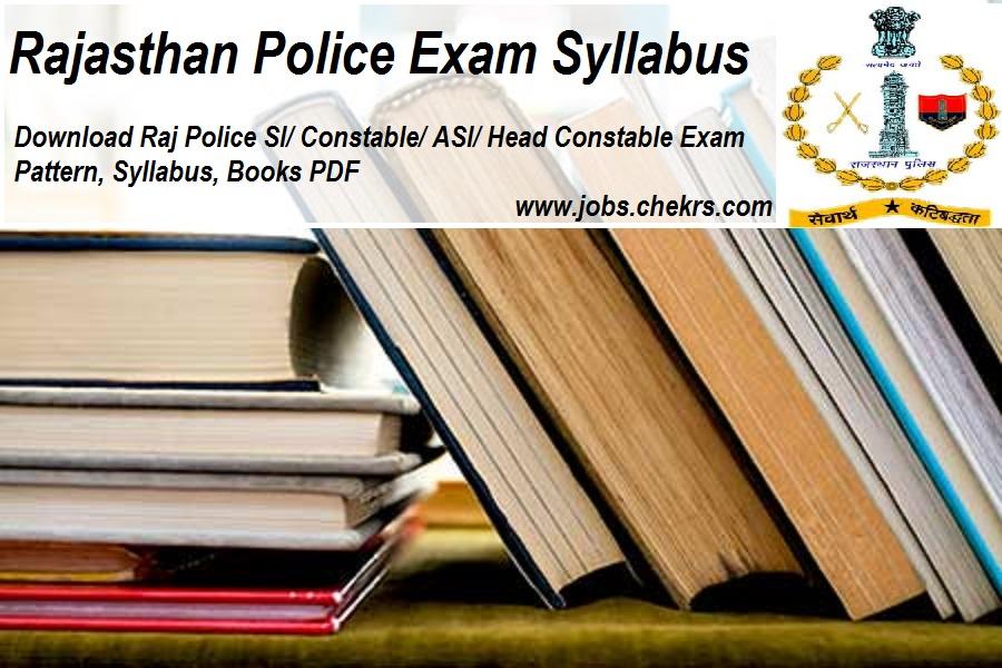 Rajasthan Police SI Syllabus 2020