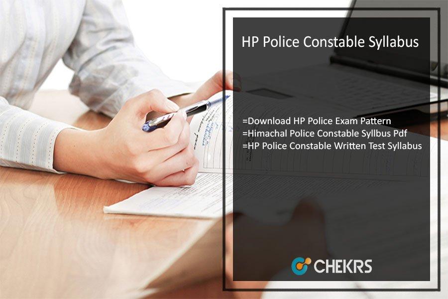 HP Police Constable Syllabus 2021