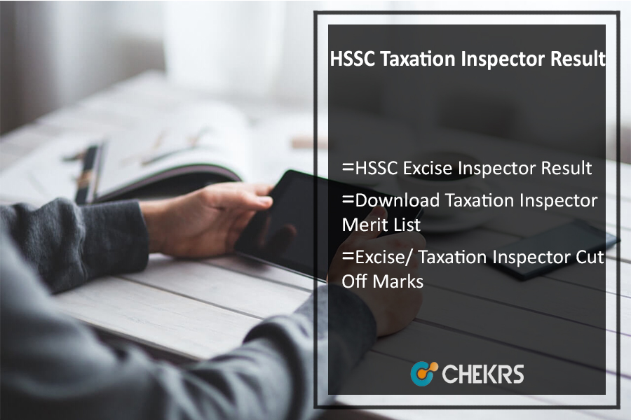 HSSC Taxation Inspector Result- Haryana SSC Excise Merit List
