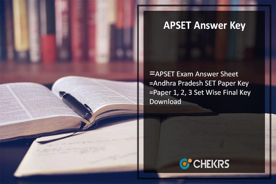 APSET Answer Key Pdf- July Paper 1, 2, 3 Set Wise Final Key Download