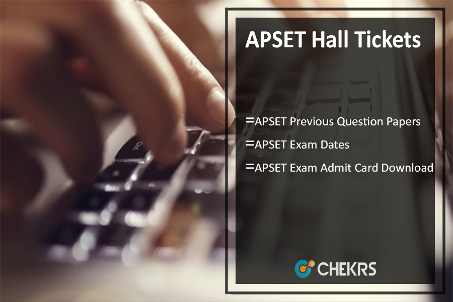 APSET Hall Tickets 2020