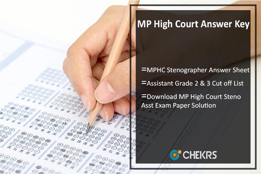 MP High Court Answer Key- Steno & Asst Grade 2 3 Ans Sheet Pdf