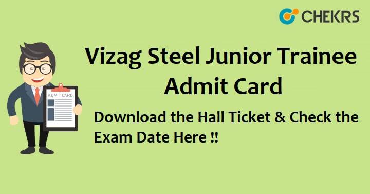 vizag steel junior trainee admit card