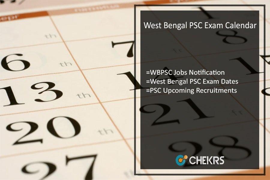 WBPSC Exam Calendar 2022