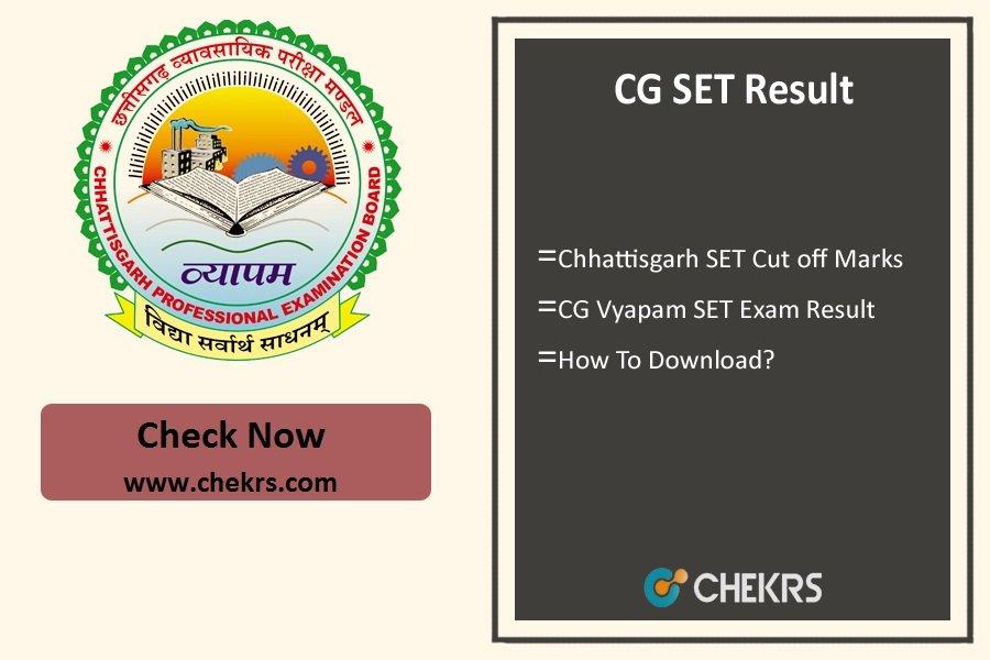 CG SET Result- Chhattisgarh Vyapam Cut off Marks @cgvyapam.choice.gov.in