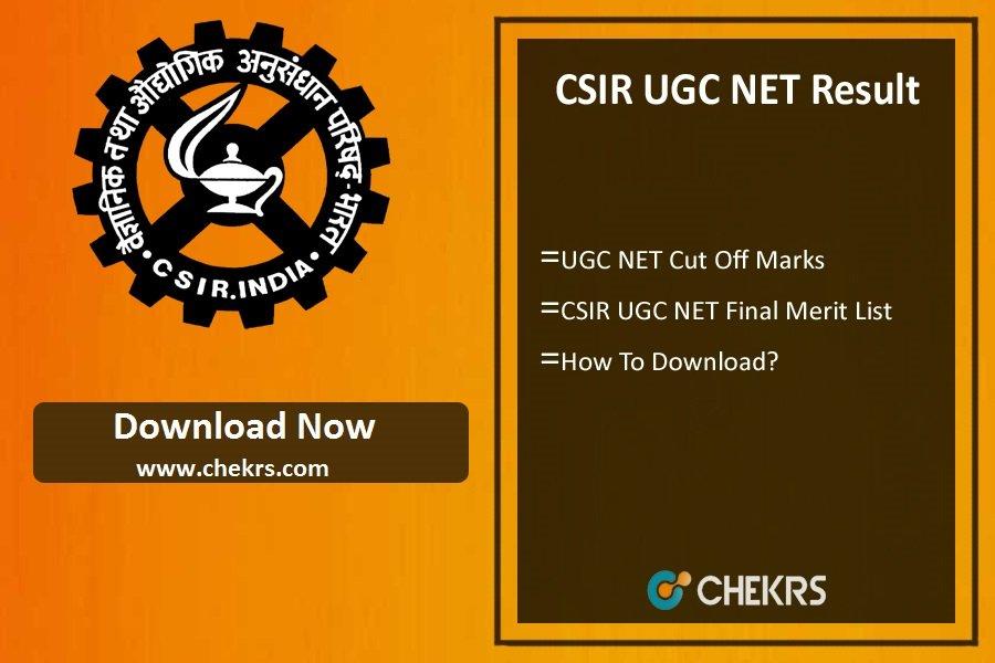 CSIR UGC NET Result 2021