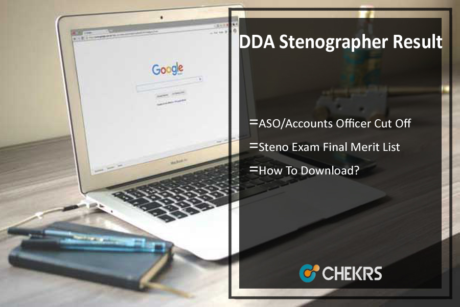 DDA Stenographer Result- ASO, Accounts Officer Cut Off, Merit