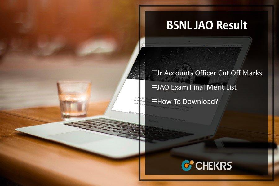 BSNL JAO Result- Jr Accounts Officer Cut Off Marks, Merit List