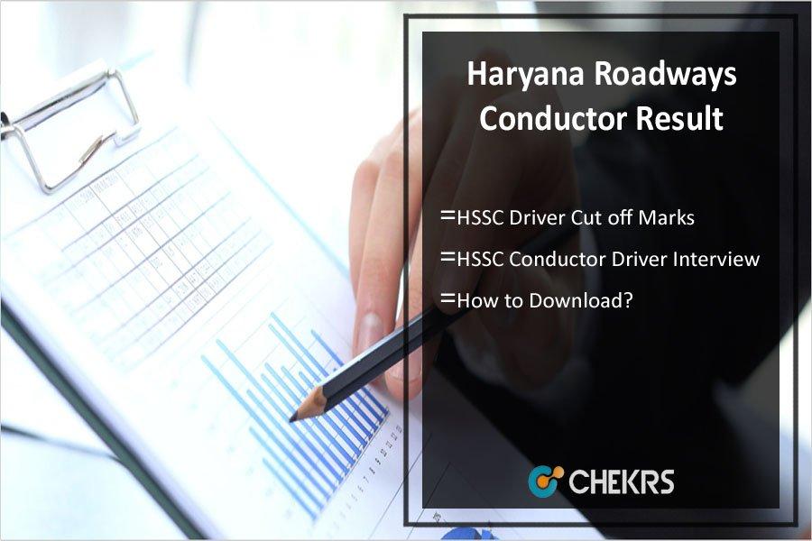 Haryana Roadways Conductor Result 2021- HSSC Cut off @ hssc.gov.in- HSSC Driver Cut off Marks
