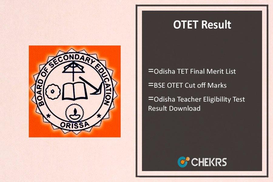 OTET Result- Odisha TET Merit List, Cut Off Marks, Rank