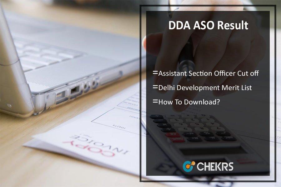 DDA Assistant Section Officer Result 2021