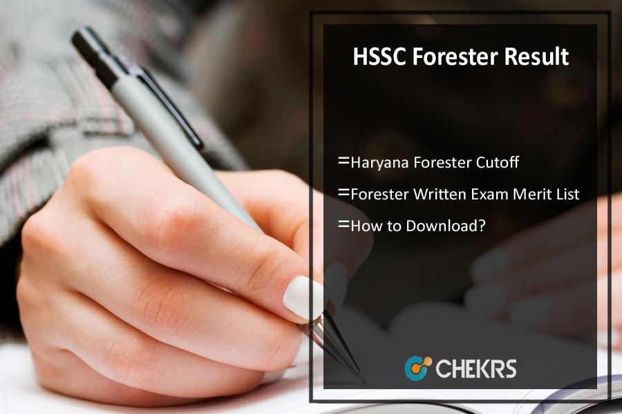 HSSC Forester Result 2021