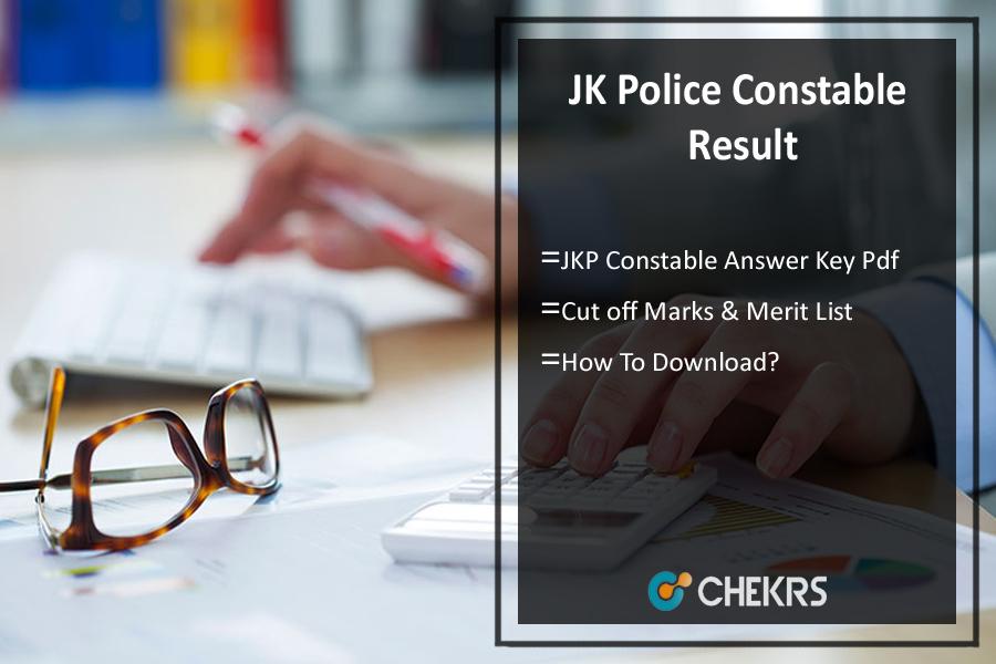 JK Police Constable Result- Written Exam Answer Key, Merit List