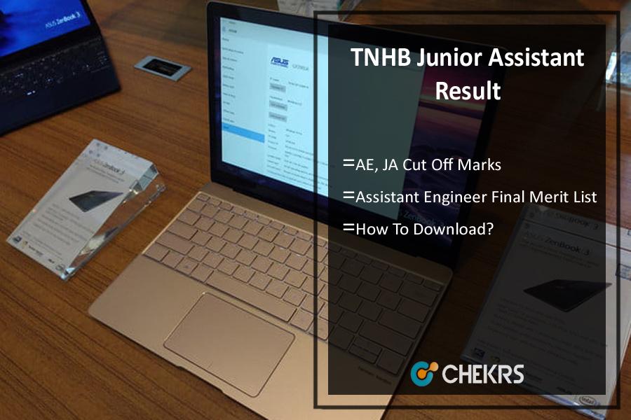 TNHB Junior Assistant Result 2021- AE, JA Cut Off Marks, Merit list