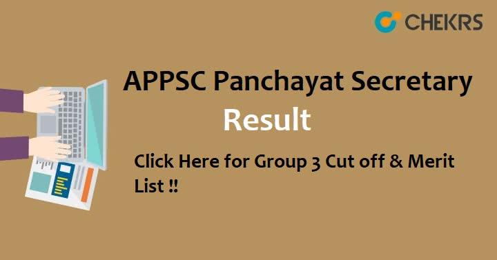 APPSC Panchayat Secretary Grade 3 Result