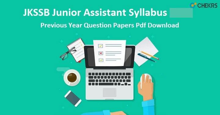 JKSSB Junior Assistant Syllabus 2021