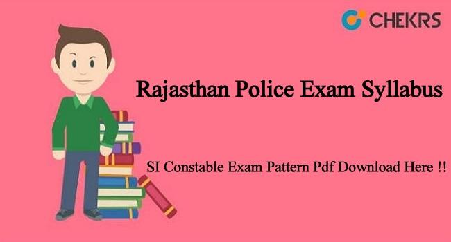 Rajasthan Police Exam Syllabus