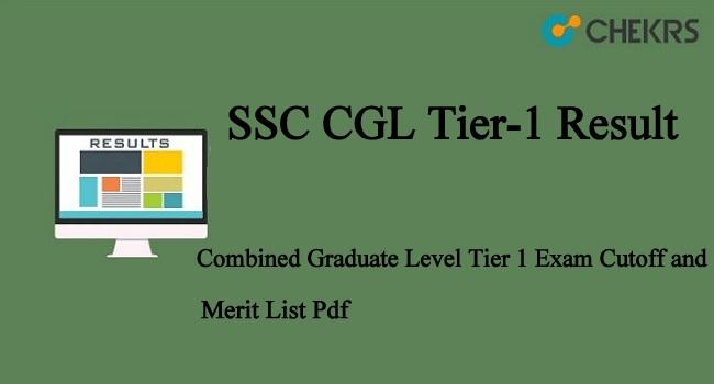 SSC CGL Tier-1 Result