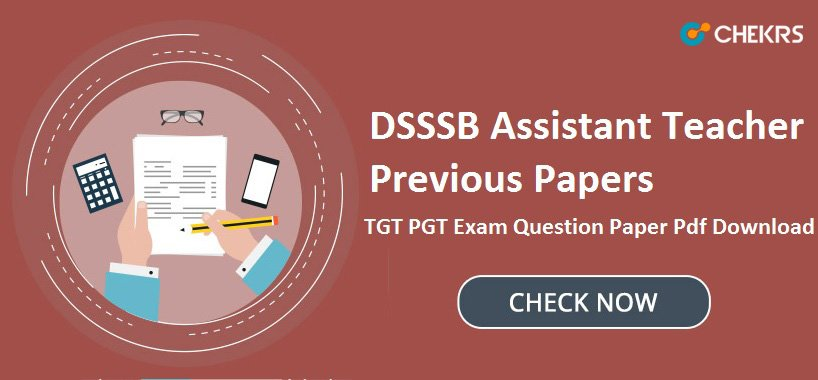DSSSB TGT PGT Question Paper