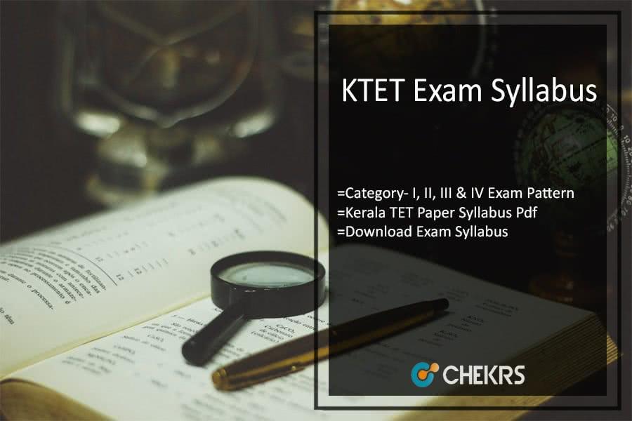 KTET 2019 Syllabus, Category- I II III & IV Exam Pattern Pdf