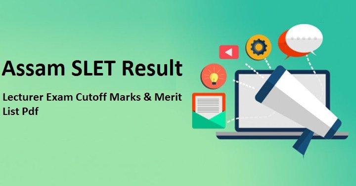 SLET Exam Assam Result
