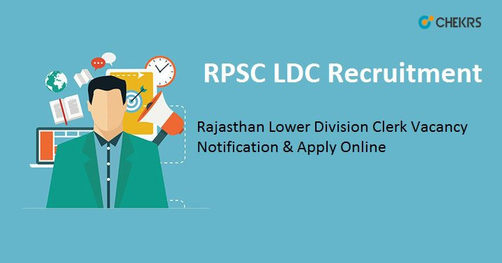 RPSC LDC Vacancy Notification