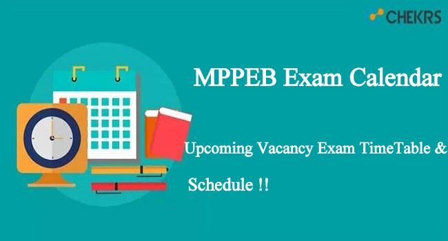 MPPEB Exam Calendar
