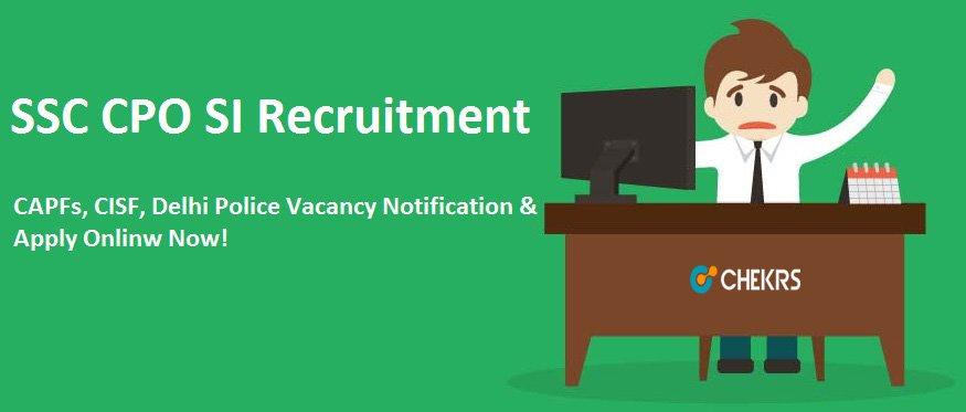 SSC CPO SI Recruitment 2021