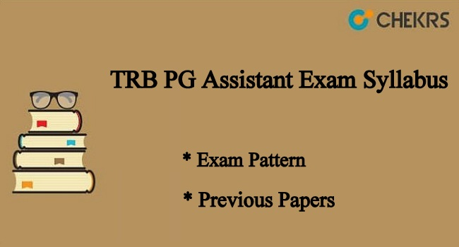 TRB PG Assistant Exam Syllabus