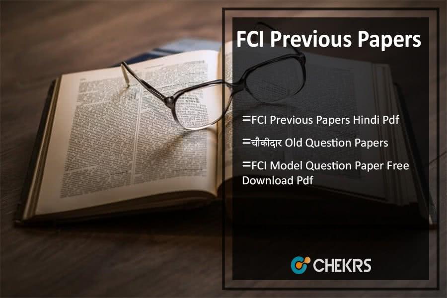 FCI Previous Papers Hindi Pdf