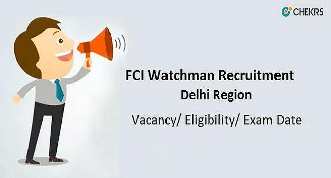 FCI Delhi Recruitment 2021