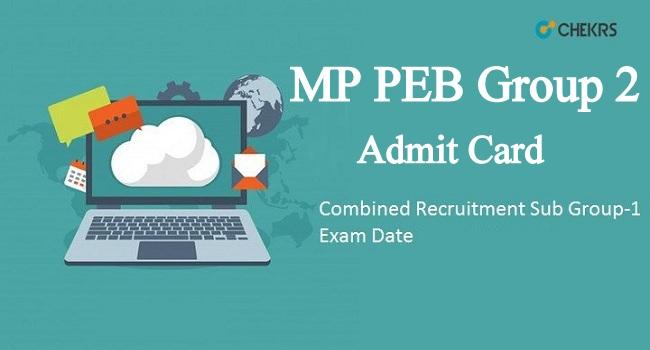 MP PEB Group 2 Admit Card