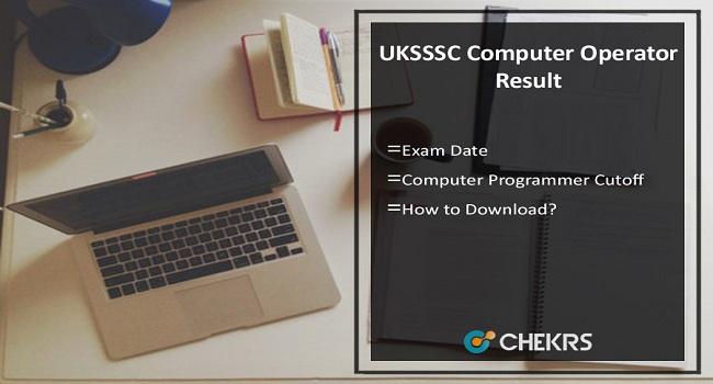 UKSSSC Computer Operator Result