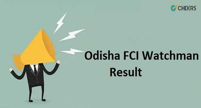 FCI Odisha Result 2020