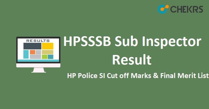 HPSSSB Sub Inspector Result