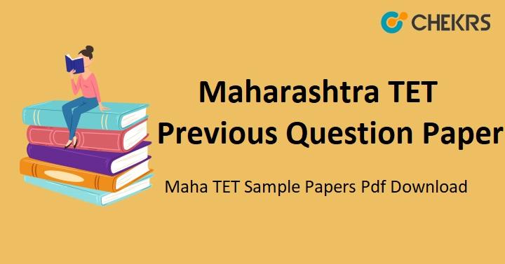 Maharashtra TET Previous Question Paper