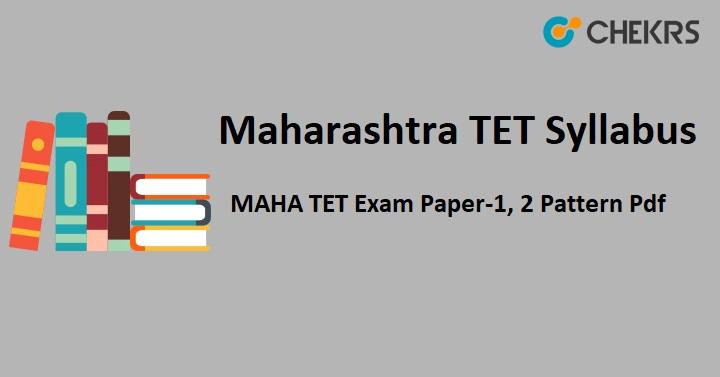 Maharashtra TET Syllabus 2019