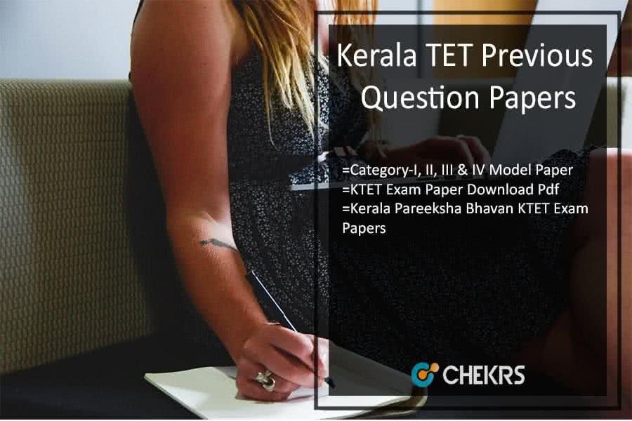 Kerala TET Previous Year Papers