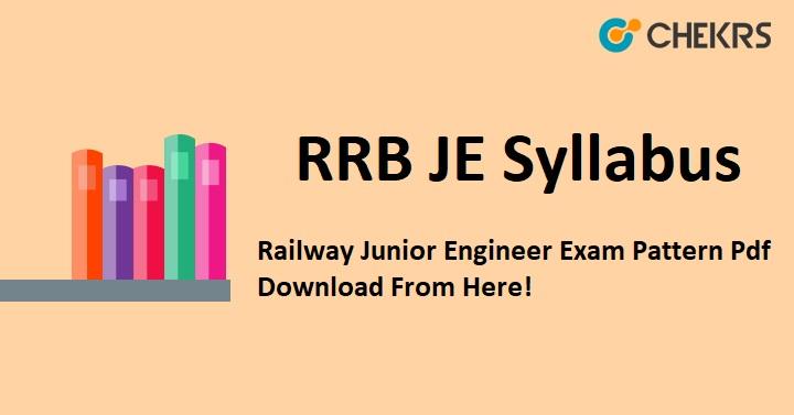 Railway Junior Engineer Exam Pattern Pdf