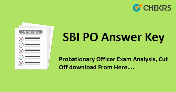 SBI PO Answer Key 2019